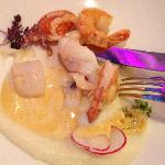  scallops with king prawns for main course