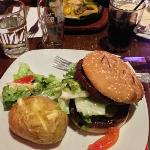 Double or Nothing burger with Jacket potato