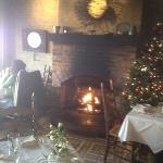 Christmas tree and fireplace. cozy and romantic!