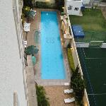 Pool from 6th floor window