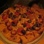 Pepperoni and mushroom brick overn pizza