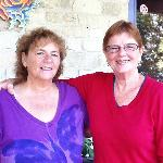  Cindy and Sherry , our hosts