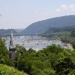 View from Jefferson's Rock down the Potomac River water gap