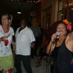 ROSE CALDERONE AN CAPITAN PAUL ENJOY PAMELA´S SONG.
