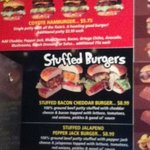 stuffed burger menu
