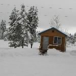 Cabin's are open in the Winter