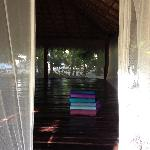 inside the yoga studio, beautiful and so zen!