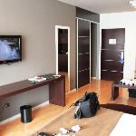 TV, closet and table