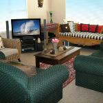Lounge with plasma TV and DVD