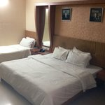 Our triple bed delux room- just basic