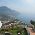 view from Ravello over bay