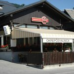  On the road to Lake Bohinj. Best coffee in the world.