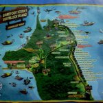 A map on one of the diving brochure of Barefoot.
