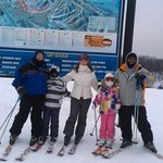 Family pic from the top of Boyne Run