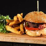 Cheeseburger au Stilton & frites