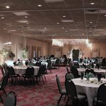 Our GrandBallroom set up for a Reception.
