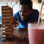  smoothies and jenga