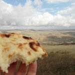 On the Envoy tour to Davit Gareji - our guide brough this great khachapuri!