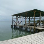 The dock at the Cocomo...two hammocks to relax in and where water taxis will pick you up.