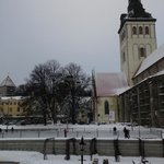 Church and the skating rink