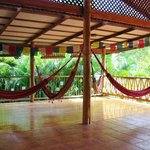 Hammocks on the top floor yoga deck