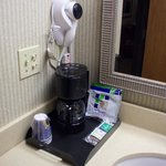  Coffee pot, hair dryer..