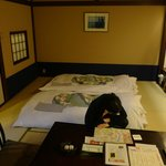 The room is spacious and Japanese style