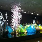 A room in the Chihuly exhibit