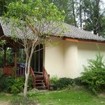 One of the six bungalows