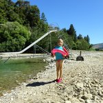 Swimming at the awesome river