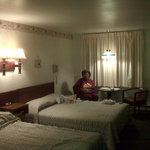 Ready to go to bed, at the Vesuvio Motel in Lewes DE. Big Room