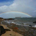 Rainbow over the wreck I took this with my Galaxy s3 it came out pretty clear.