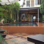 a swim before breakfast, a perfect way to start the day in Phnom Penh...