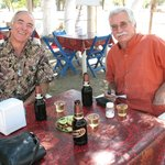  Alvin (right) introduced us to a wonderful roadside restaurant - if I could find it, I&#39;d go back