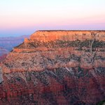 Sunset Looking East at Mather Point