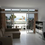 Lovely modern furnished room and great view out to sea