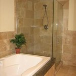  Suite B Bathroom with garden tub and glass shower
