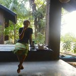  room verandah - having breakfast