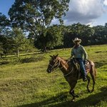 Horseback riding to Xunantunich Mayan ruins at Hanna Stables