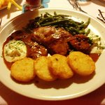 Pork medallions with potato cakes