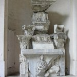  Entrance marble statues