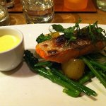Baked Salmon, The Brasserie, Pheasant Inn (even ate the skin - delicious)