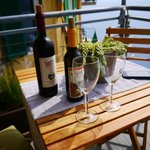 Enjoy a bottle of wine on the patio