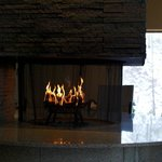  Hotel Lounge with a fire place