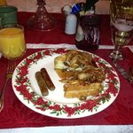 apple stuffed French toast. Perfect on a winter morning.