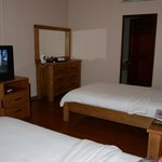 Spacious Twin bedded room with attached bathroom