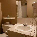  Bathroom with hair dryer and amenities
