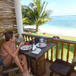 Breakfast in the beachfront accommodation