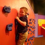 Small climbing wall in upstairs playroom