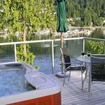Eagle Suite Hot Tub, View to Deep Cove Yacht Club